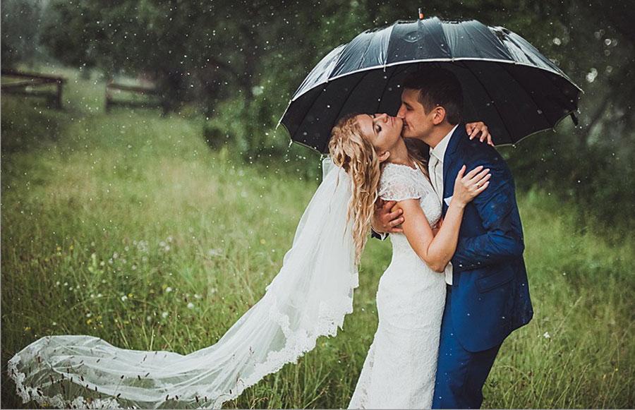 Обещают дождь на свадьбу; сохрани макияж и прическу