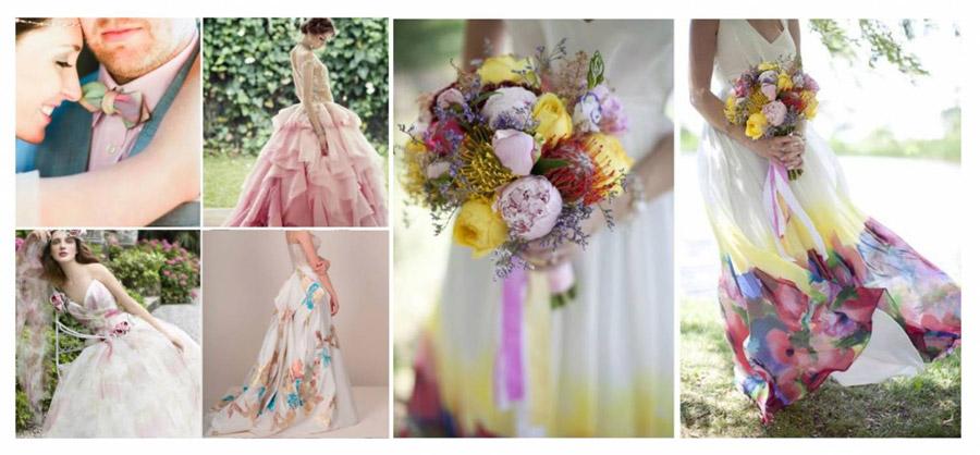 Акварельная свадьба: образ невесты
