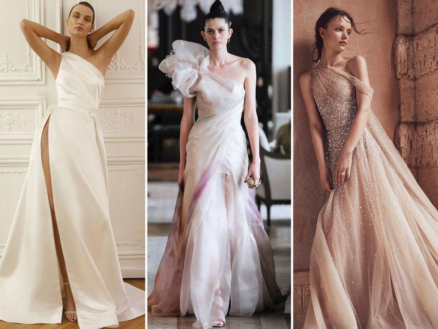 Тенденции свадебной моды 2020 Лиф на одно плечо