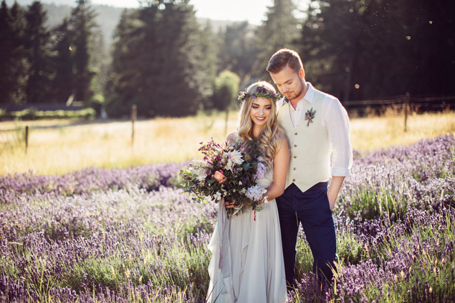 Шик и простота свадьбы в стиле Прованс:Образы новобрачных