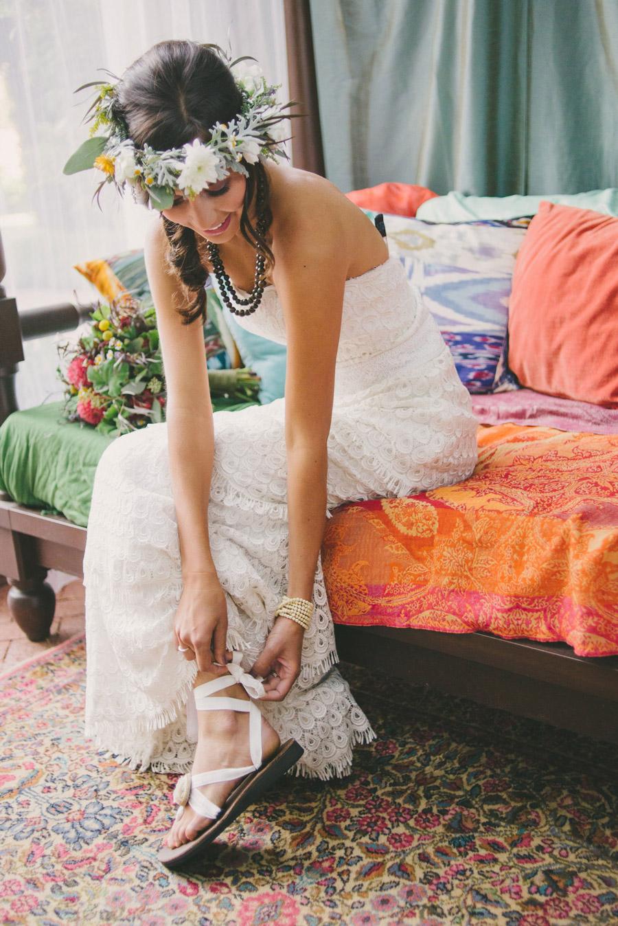 """Свадебные наряды в стиле """"Бохо"""" обувь"""