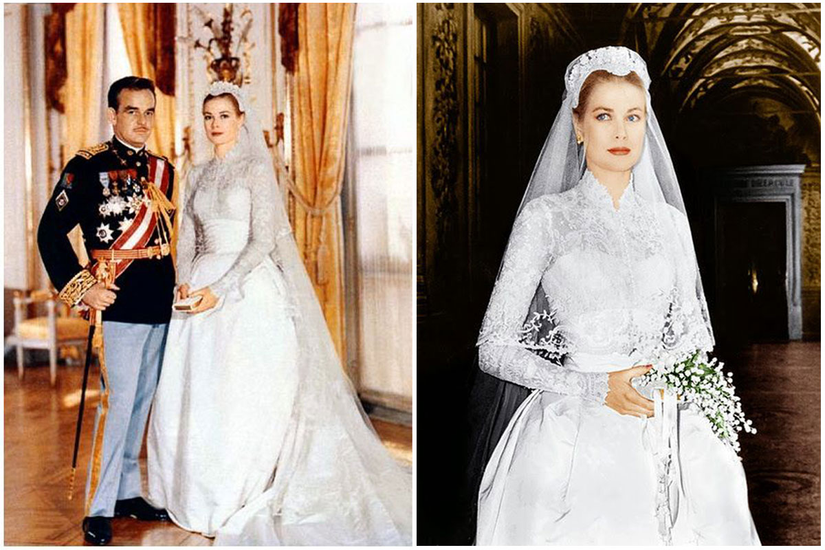 Свадебное платье в королевском стиле Грейс Келли