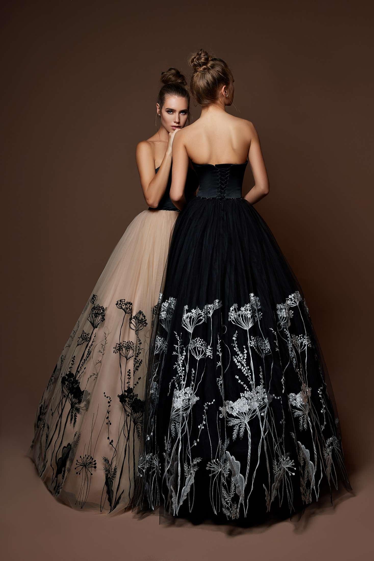 Вечерние платья с цветочным принтом 2