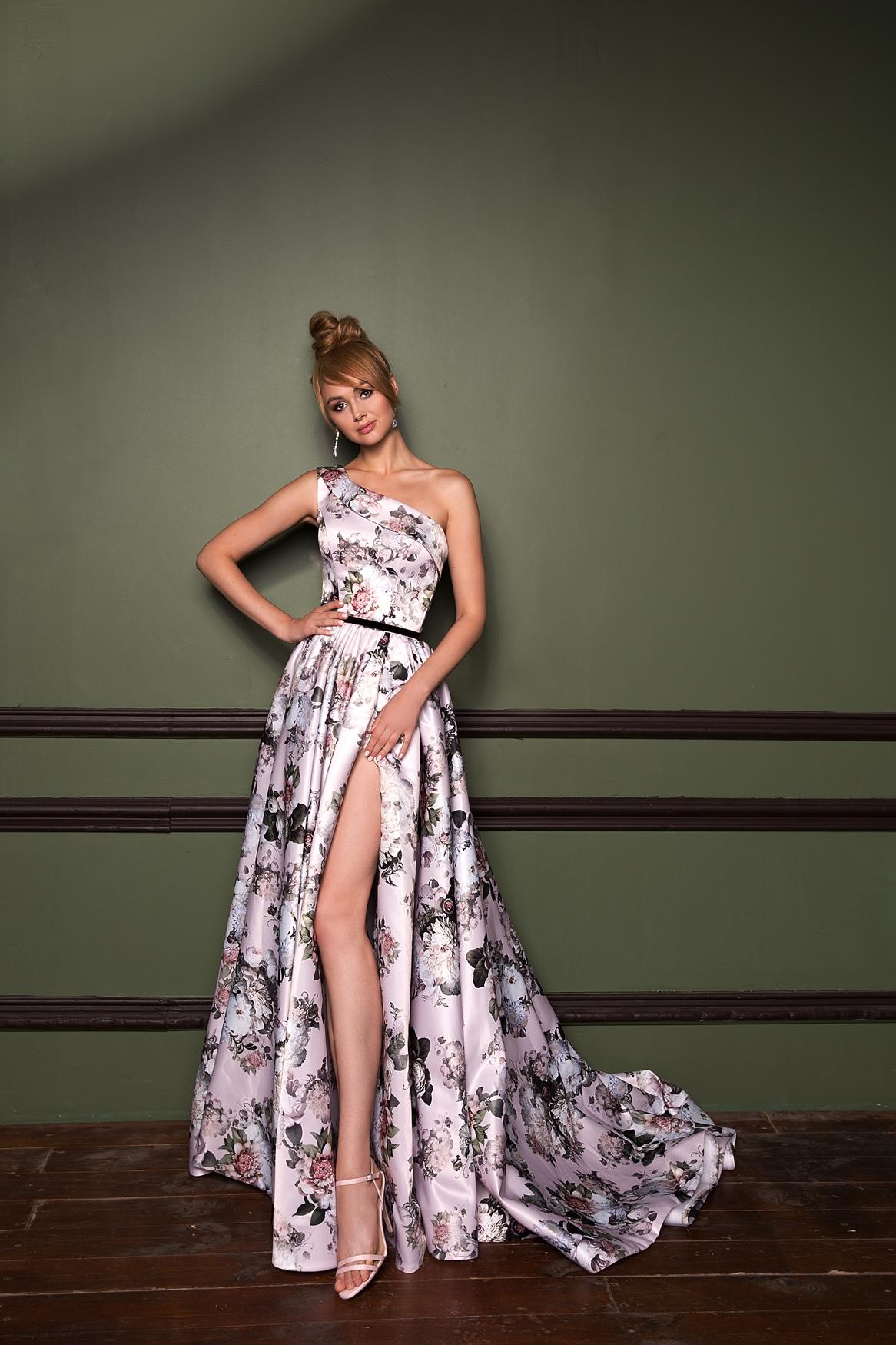 Вечерние платья с цветочным принтом 3