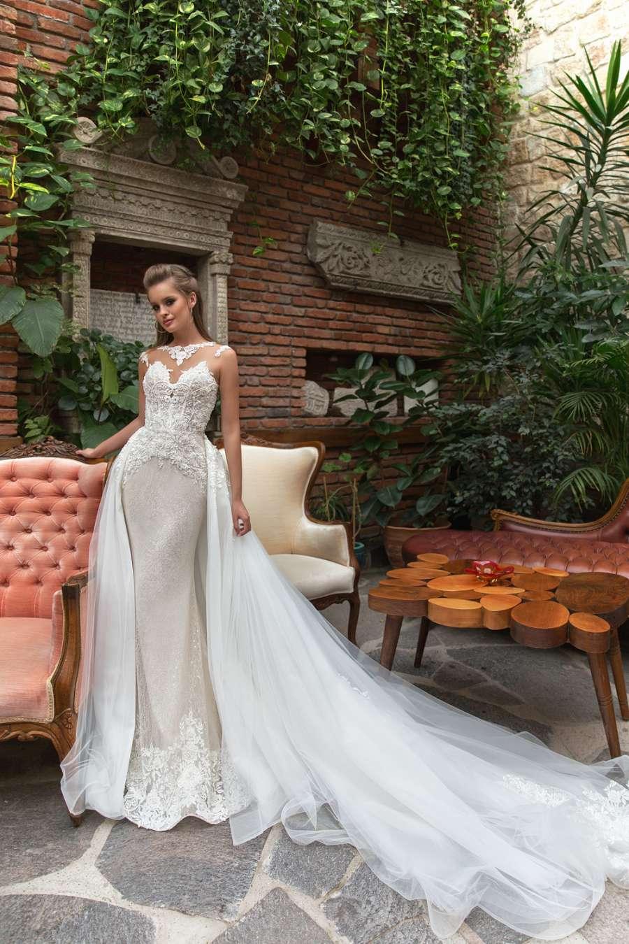 свадебное платье со шлейфом 3