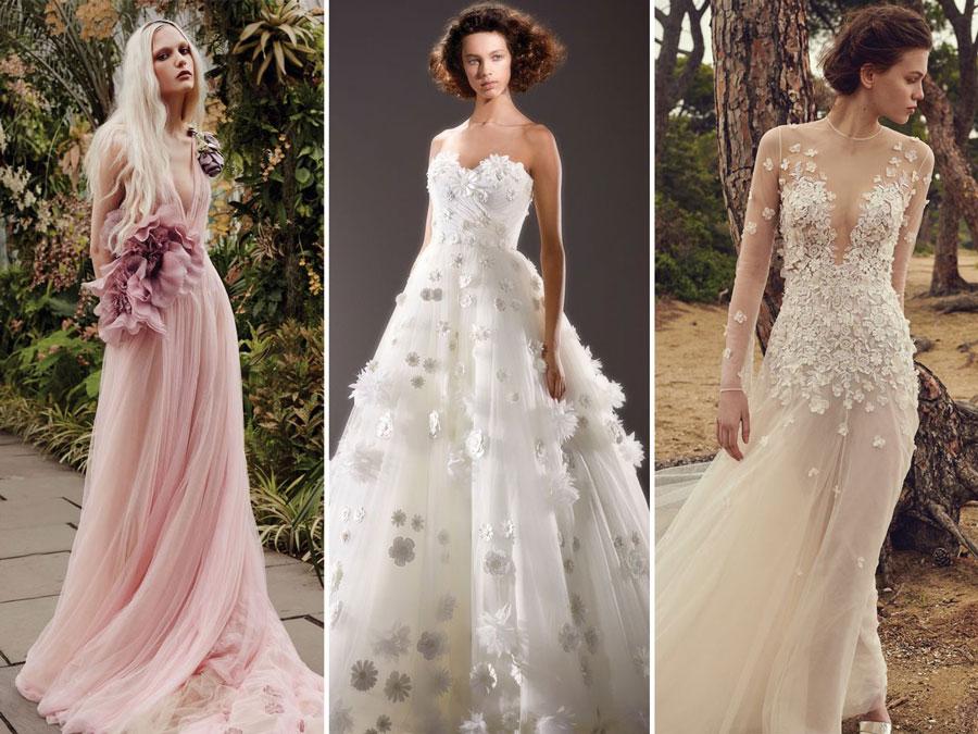 Тенденции свадебной моды 2020 3-D Цветы