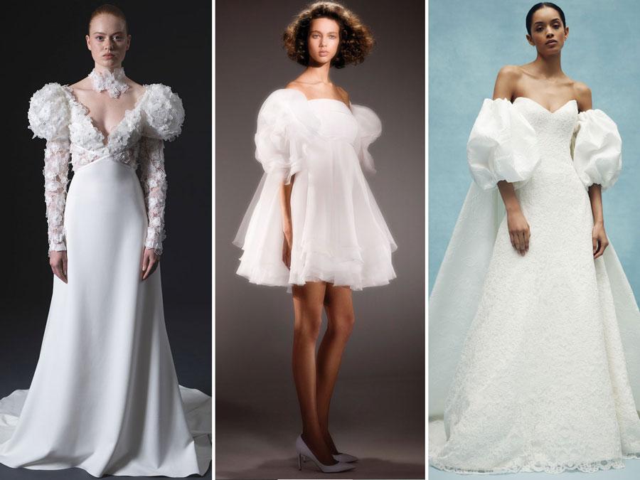 Тенденции свадебной моды 2020 Пышные рукава