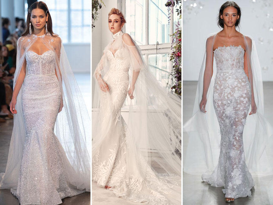 Тенденции свадебной моды 2020 Кейпы