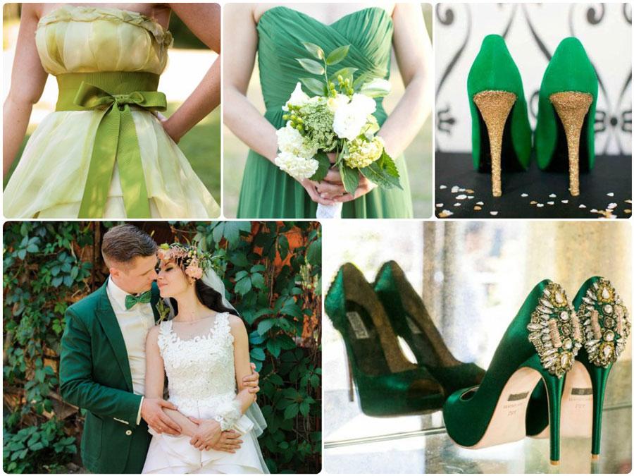 Свадьба в зеленом цвете:  варианты оформления торжества