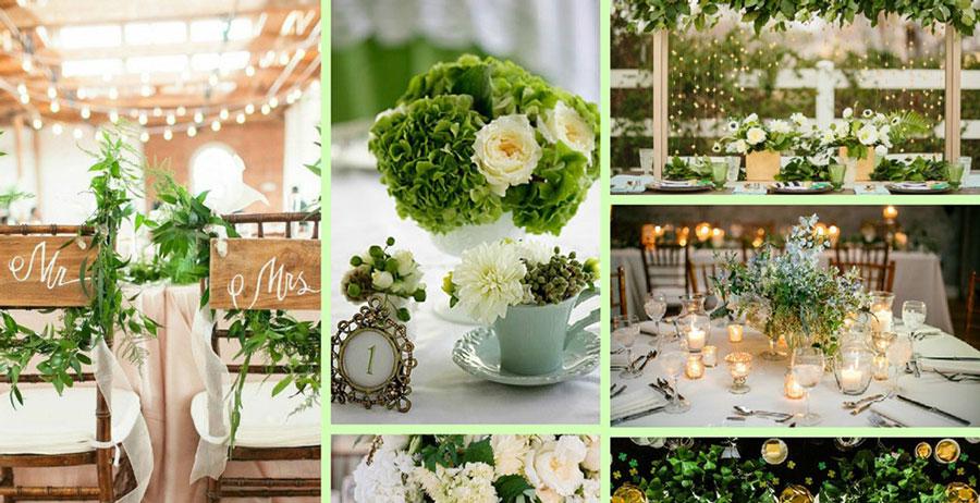 Как сделать свадьбу в зеленом? декор