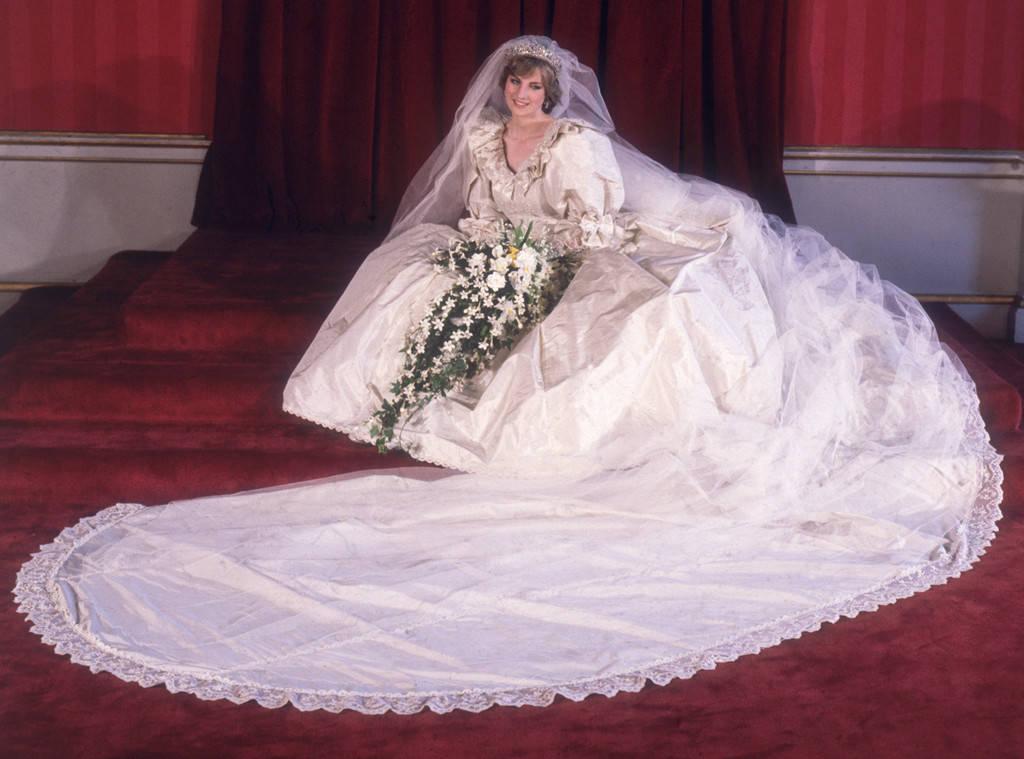 Свадебное платье в королевском стиле образ принцессы Дианы