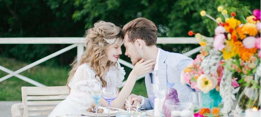 Цветовая палитра для летней свадьбы