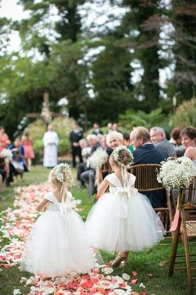"""Маленькие """"цветочные леди"""" на свадьбе"""