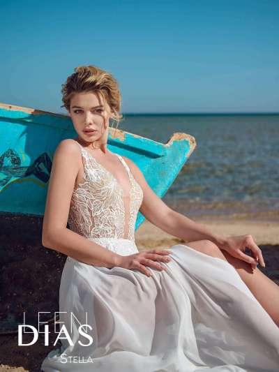 """Свадебные платья и фаты Leen Dias в салоне """"Мадейра"""""""