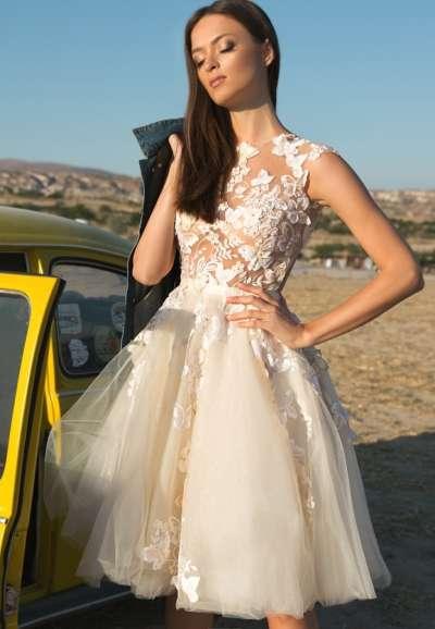Короткие свадебные платья - подчеркиваем красоту ножек
